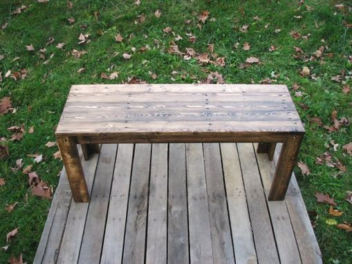 Custom Made Reclaimed Wood Rustic Style Bench
