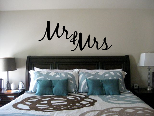 Custom Made Mr. And Mrs. Wall Decor