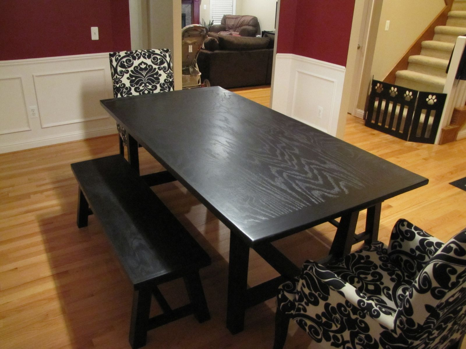Custom Trestle Dining Table And Benches By Bk Renovations Inc Custommade Com