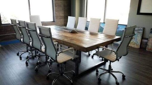 Custom Made Reclaimed Wood Conference Table