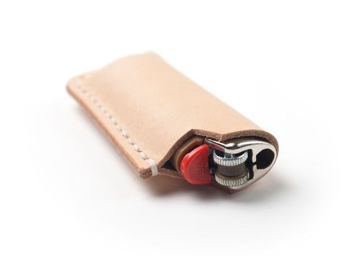 Custom Made Leather Bic Case