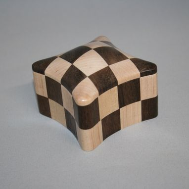 Custom Made Checkerboard #17 Handcrafted Wooden Box