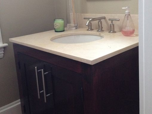 Custom Made Marble Top Vanity