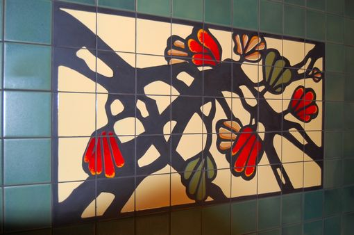 Custom Made Custom Hand Glazed Tile Mural