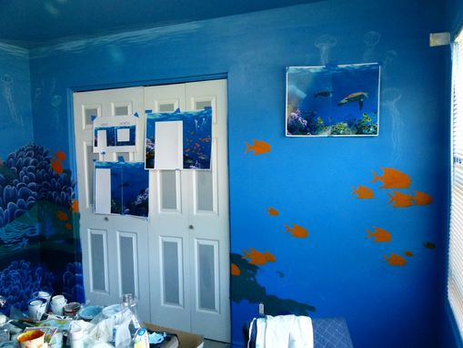 Custom Made Undersea Mural - Hansen Residence - Gracie's Room