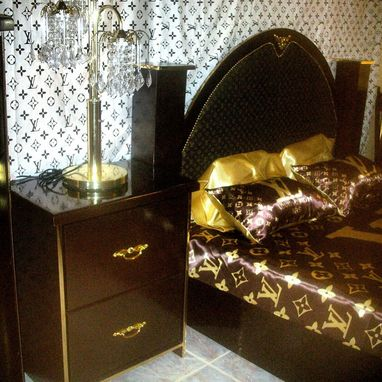 Custom Made Metallic Mahogany Bedroom Set