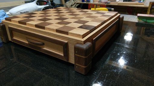 Custom Made Oak And Walnut Chess Board