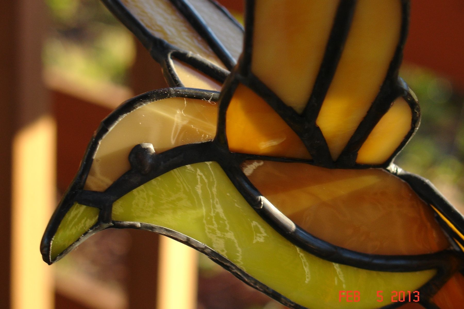 Hand Crafted Stained Glass 3d Flying Birds by Artistic Stained ...