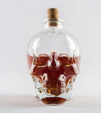 Custom Made Glass Skull Bottle Creative Crystal Skull Bottle