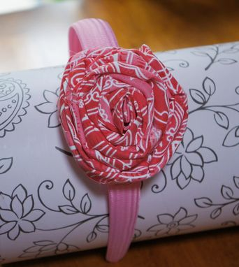 Custom Made Fabric Rose Headbands