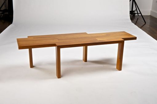 Custom Made Asymmetric Coffee Table - Walnut