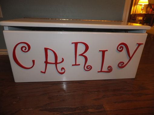 Custom Made Children's Personalized Wood Toy Box, Toy Chest