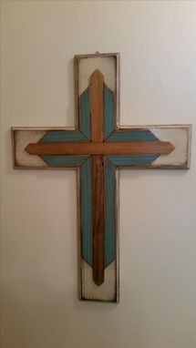 Custom Made Distressed Wooden Cross
