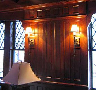 office paneling. office library with paneling u0026 coffered ceiling