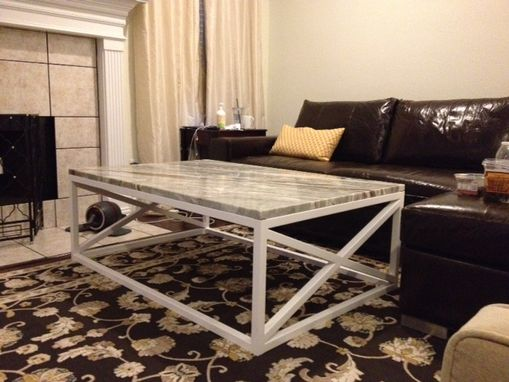 Custom Made X Side Coffee Table