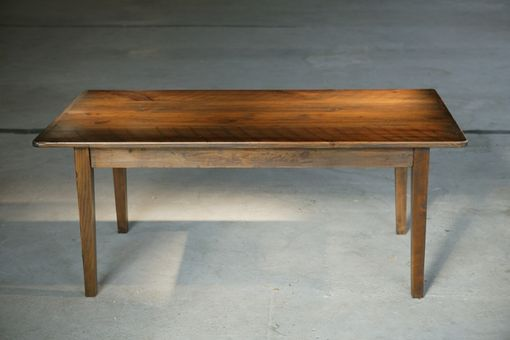 Custom Made Dining Table With Antique Walnut: Wood Dining Room Furniture