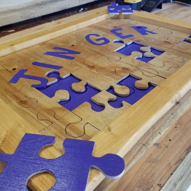 Custom Made Customized Wooden Framed Puzzle