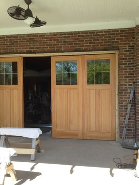 Custom Made 9' X 14' Douglas Fir Bi-Fold Garage Doors