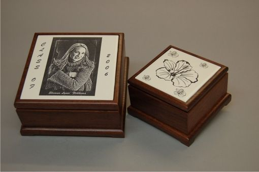 Handmade Custom Laser Engraved Keepsake Jewelry Boxes By