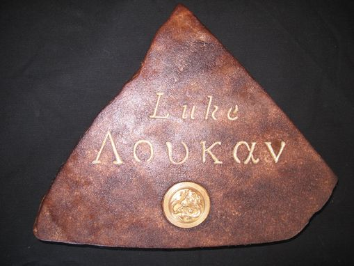 Custom Made Greek Biblical Name Tablets.