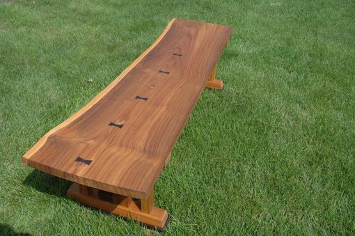 Custom Made Live Edge Teak Bench