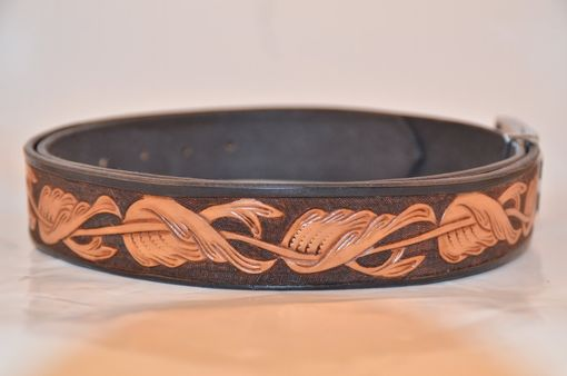 Custom Made Carved Leather Belt