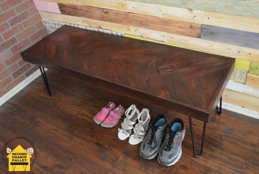 Custom Made Reclaimed Bench, Reclaimed Wood Bench- Rustic Bench, Herringbone Bench