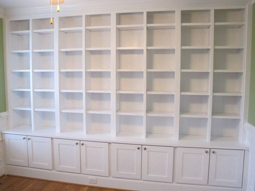Custom Made Large Library Wall