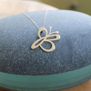 Custom Made Butterfly Initial Pendant