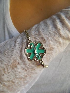 Custom Made Medical Id In Turquoise Enamel