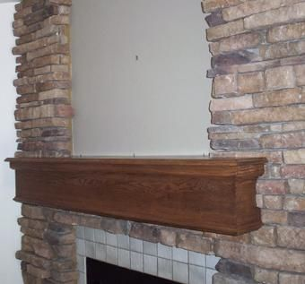Custom Made Fireplace Mantle In Oak