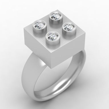 Custom Made Building Block Ring