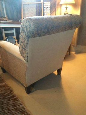 Custom Made Sample - Blue Damask Club Chair