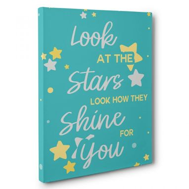 Custom Made Look At The Stars Canvas Wall Art