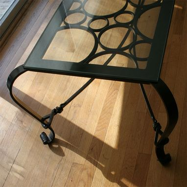 Custom Made Hand Forged Coffee Table