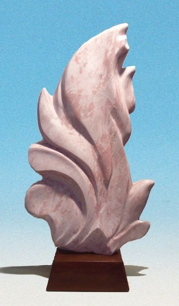 hand crafted stone sculpture  abstract modern design by
