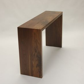 Wood Waterfall Console Table Best Superblindados Com