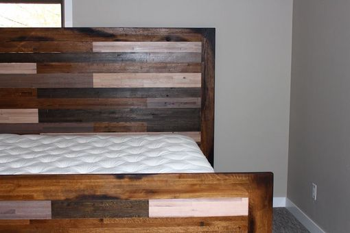 Custom Made Reclaimed Barnwood Bedframe