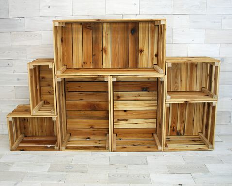 Custom Made Reclaimed Cedar Milk Crates