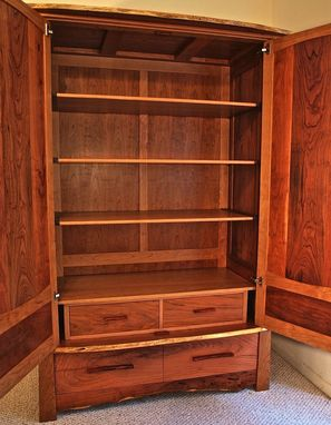 Custom Made Mesquite & Cherry Armoire