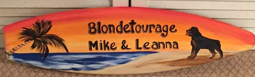 Custom Made 5ft Exterior Wood Surfboard Tiki Bar Beach Hand Painted Wall Sign Personalized Free