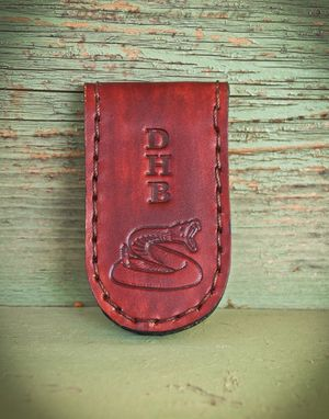 Custom Made Customized Magnetic Money Clip Holder, Personalized With Your Initials/Monogram