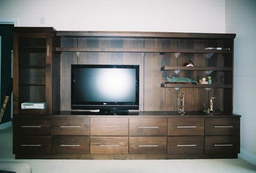 Custom Made Walnut Media Cabinet