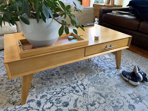 Custom Made Hemlock Coffee Table - Two Drawers