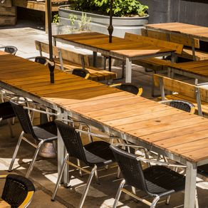 Restaurant Outdoor Patio Tables And Benches By Louis Andracchio
