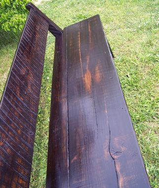 Custom Made Antique Reclaimed Tulip Tree Farm Bench