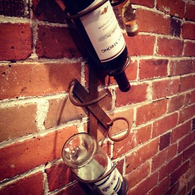 Custom Made Steel Wine Rack