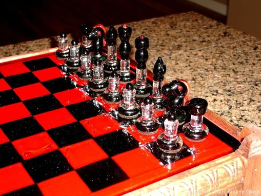 Custom Made Custom Glass Chess Set