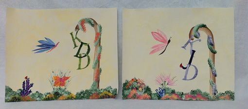 Custom Made Personalized Initial Paintings