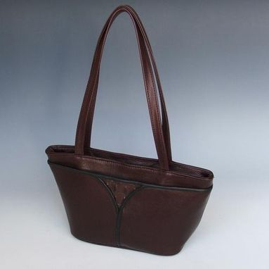 Custom Made Very Dark Brown, Sheila Short Tote Leather